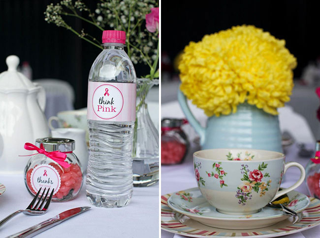 Pink ribbon breakfast with Chickabug printables