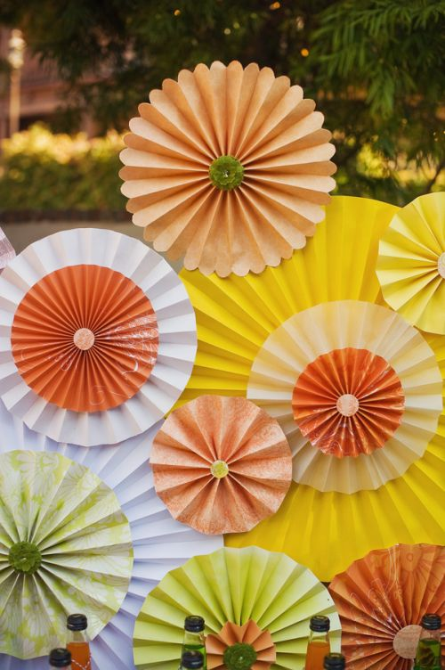 Handmade paper rosettes