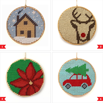 Awesome Etsy Find Christmas Ornament Needlepoint Kits By