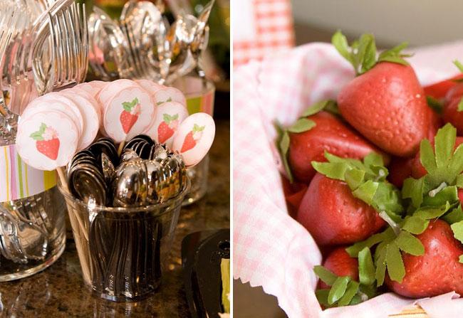 Strawberry birthday party decor