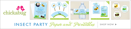 Chickabug insect theme paper goods & printables