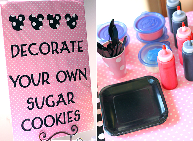 "Minnie Mouse party - ""decorate your own sugar cookie"" station"