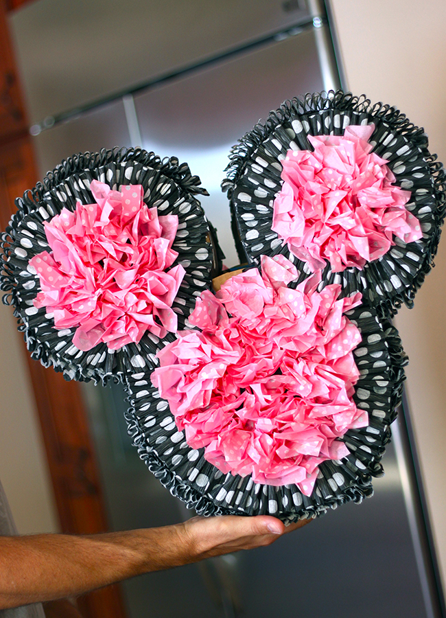 Minnie Mouse birthday party - Minnie ears pinata