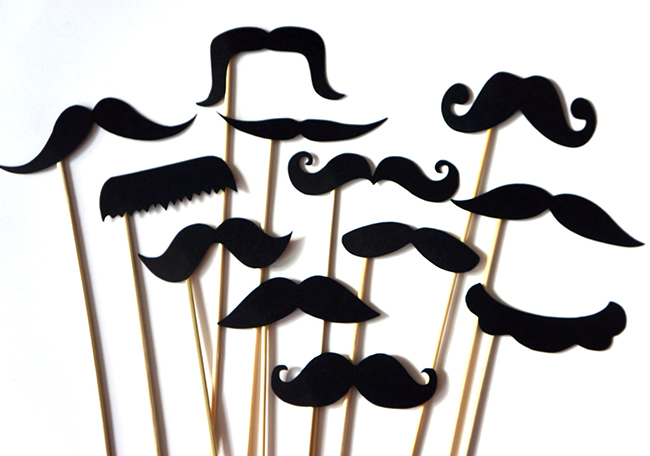 Mustache photo booth props by The Manic Moose