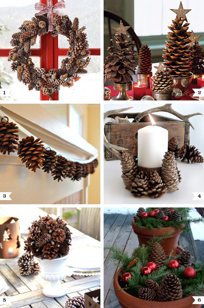 Pine cone decor ideas for Christmas | Chickabug