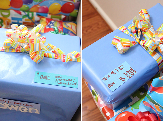 Sweet birthday presents