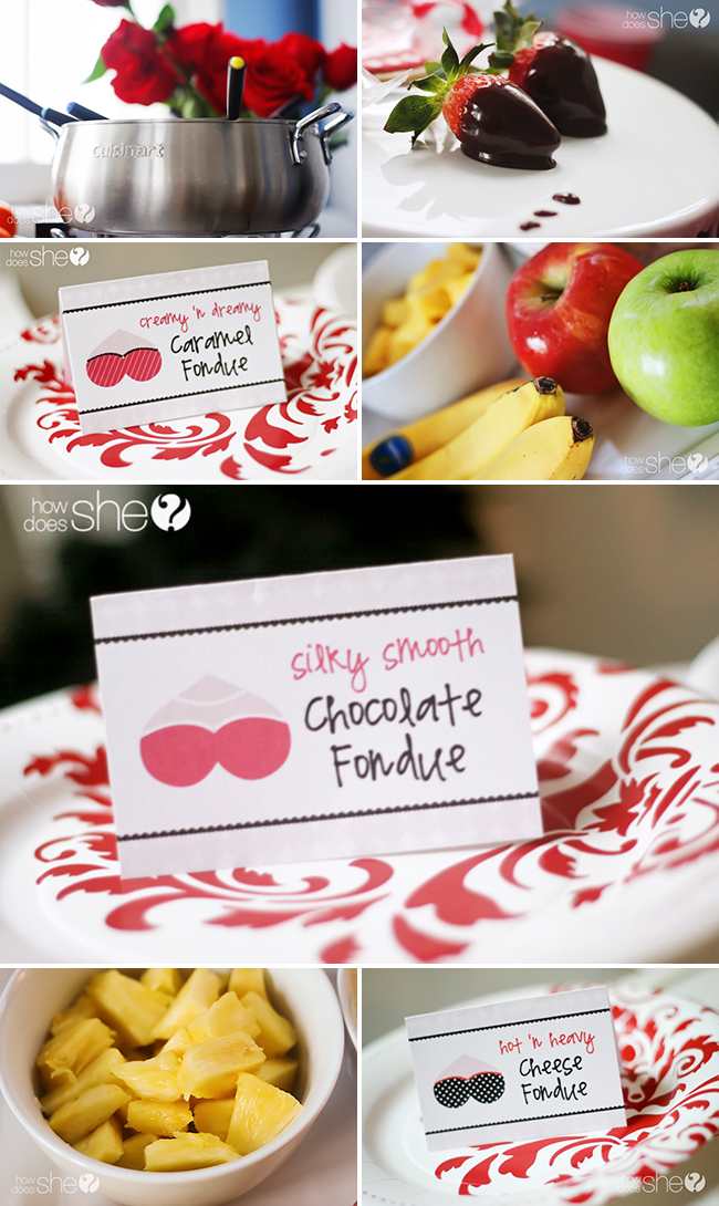 Fancy flirty fondue party with FREE printables