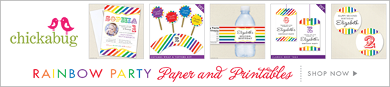 Chickabug rainbow theme paper goods & printables