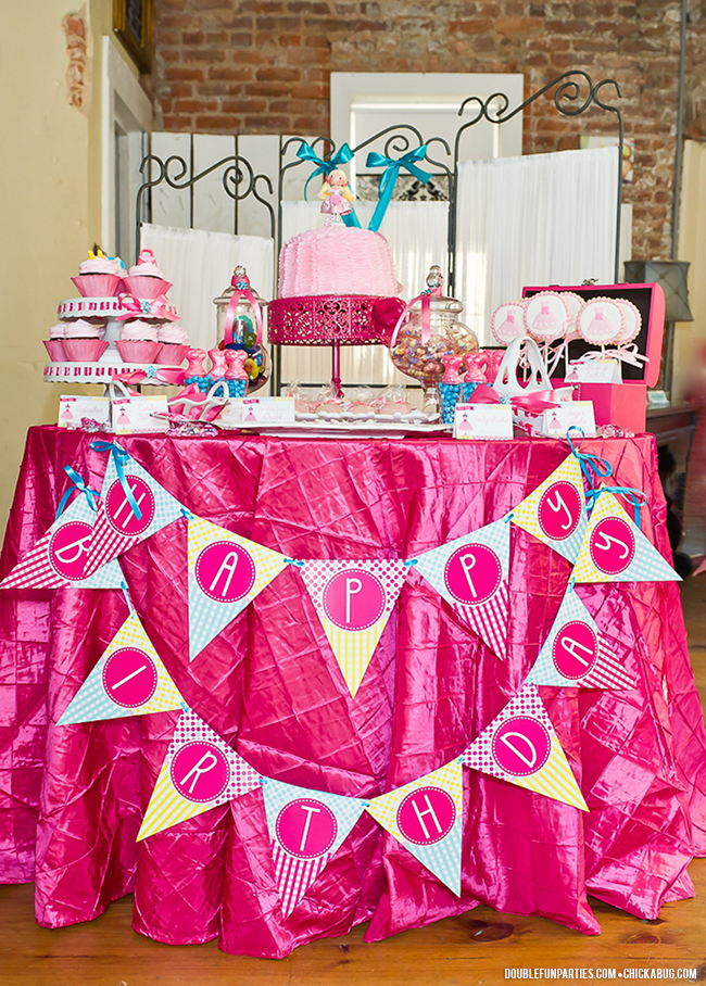Dress-Up theme party by Double The Fun Parties, with printables from Chickabug