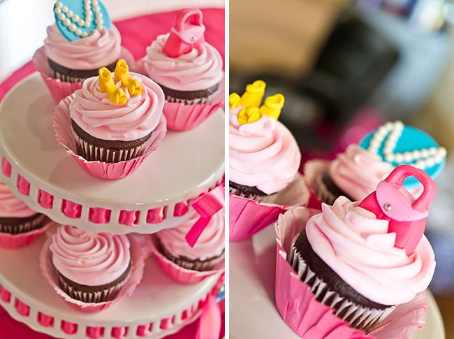 Dress-Up theme party - cupcake toppers by Edible Details