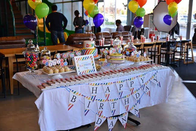 Rainbow first birthday party (Korean Dohl) with Chickabug printables