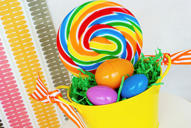 Rainbow Easter party decorations