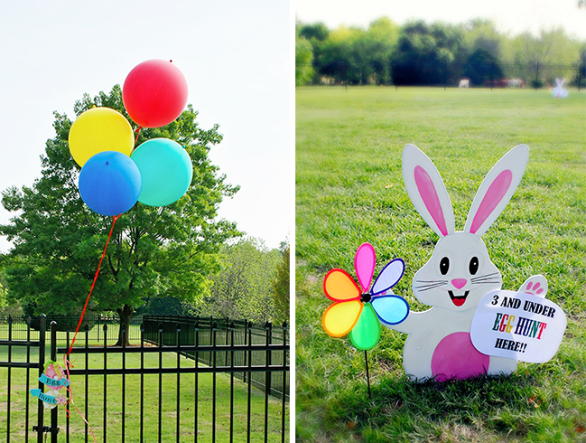 Rainbow theme Easter egg hunt