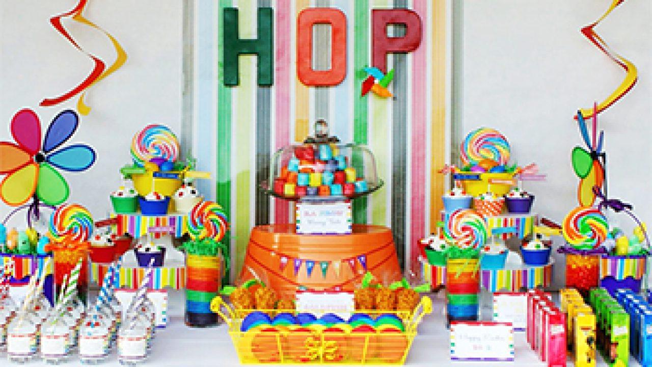 Rainbow Hoppy Easter Party Chickabug