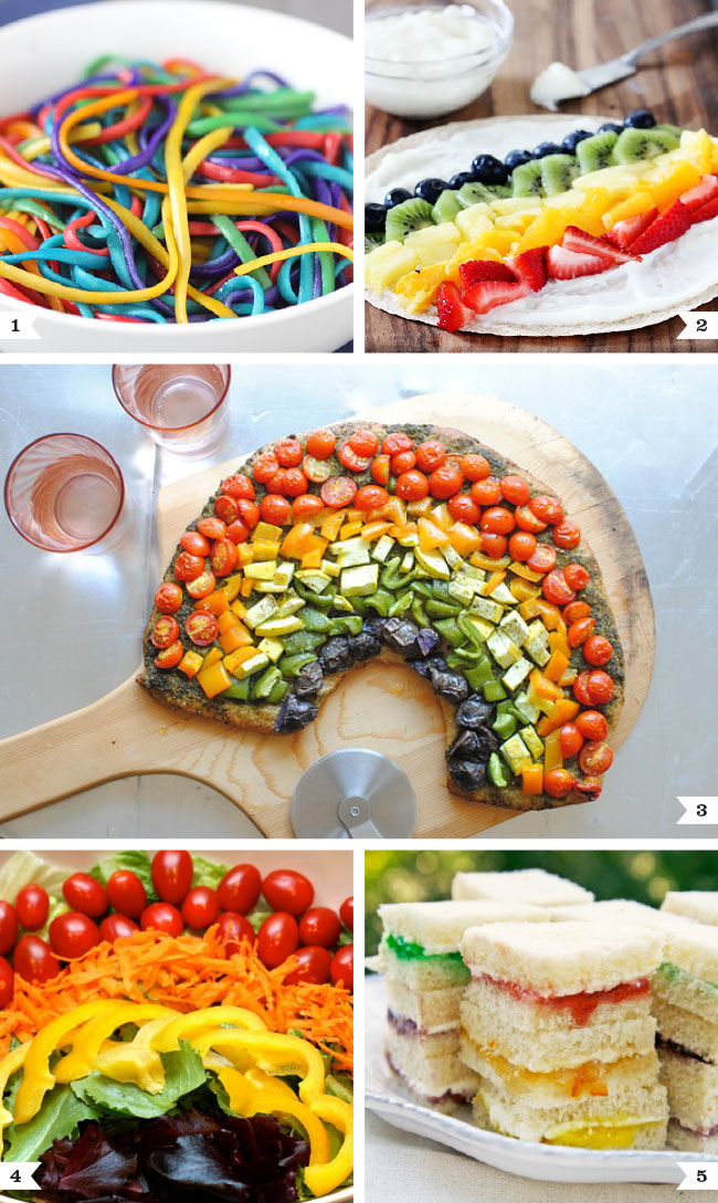 Savory rainbow recipes
