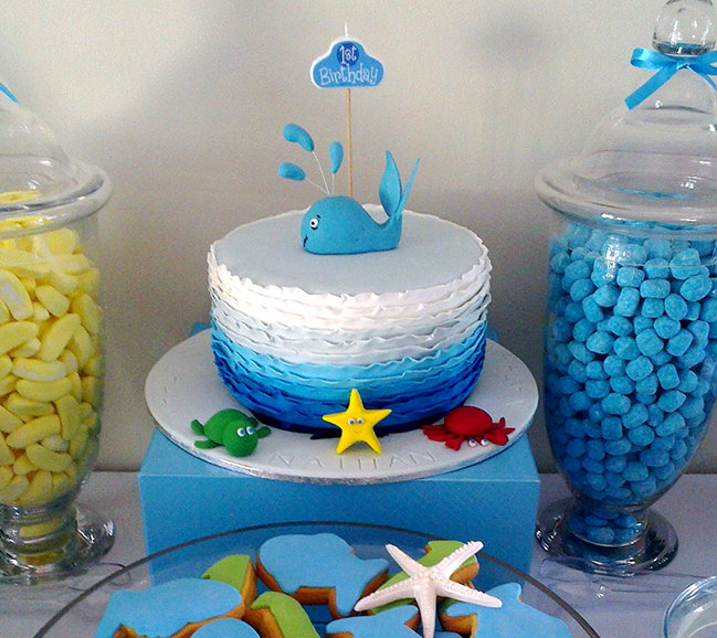 Under the sea birthday party - adorable birthday cake