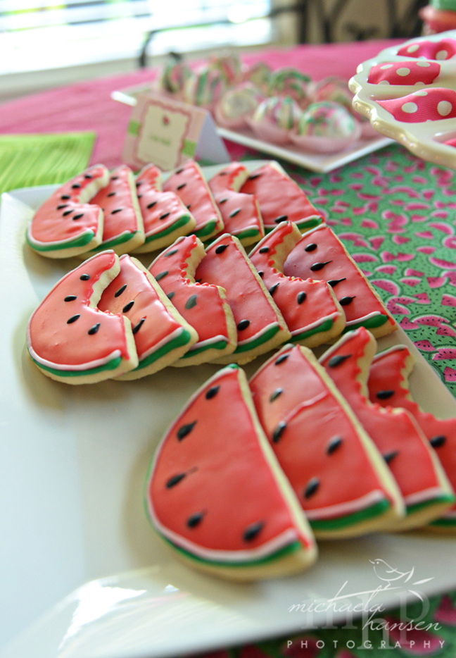 Watermelon party - the cutest cookies!