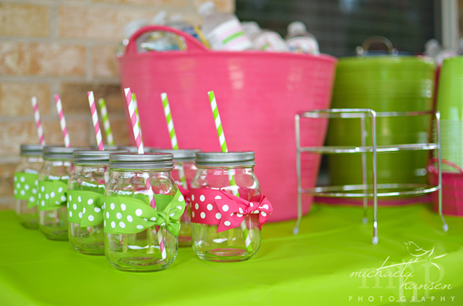 Watermelon party drink display