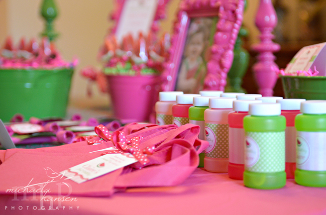 Watermelon party favors featuring Chickabug printables