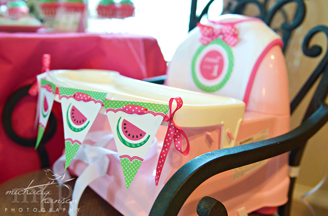 Watermelon 1st birthday party - printables from Chickabug