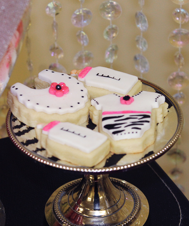 Zebra baby shower cookies