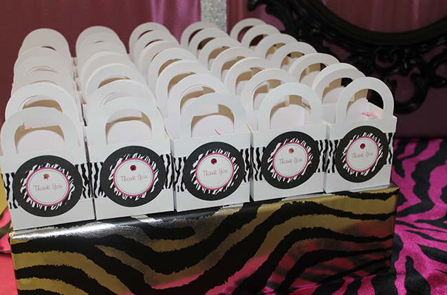 Zebra theme baby shower