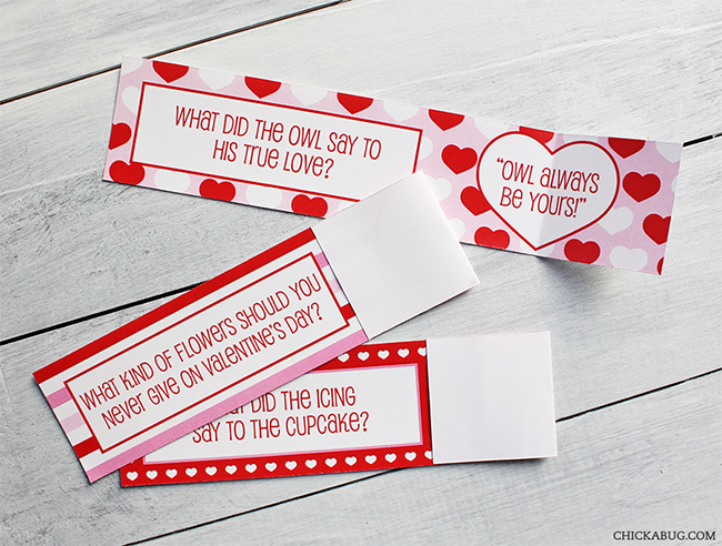 Free Printable Valentine S Day School Lunch Box Jokes By Chickabug