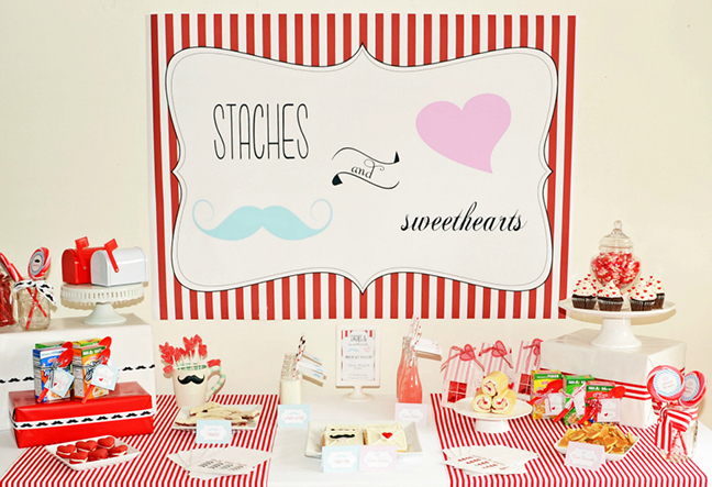 """""""Staches and Sweethearts"""" Valentine's Day Party"""