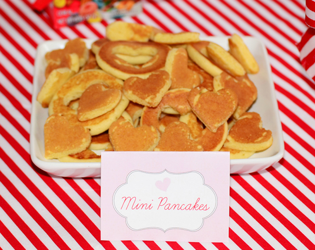 Heart pancakes