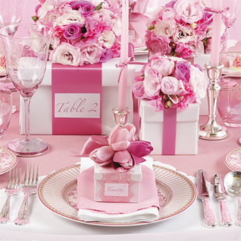 One Pretty Pin Glamorous Pink Party Table Chickabug