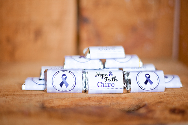 Purple ribbon cancer printables - a 44-page fundraising kit from Chickabug