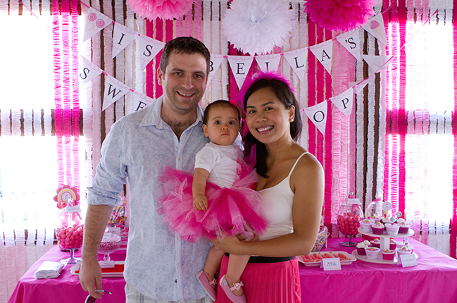 Sweet Shoppe pink 1st birthday party