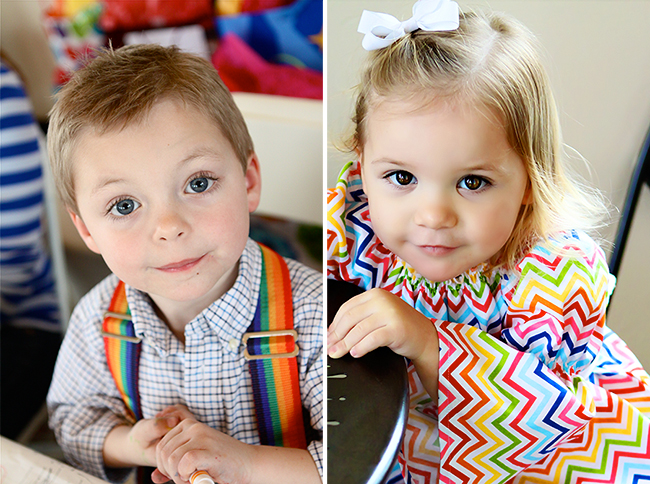 Adorable rainbow kiddos : )
