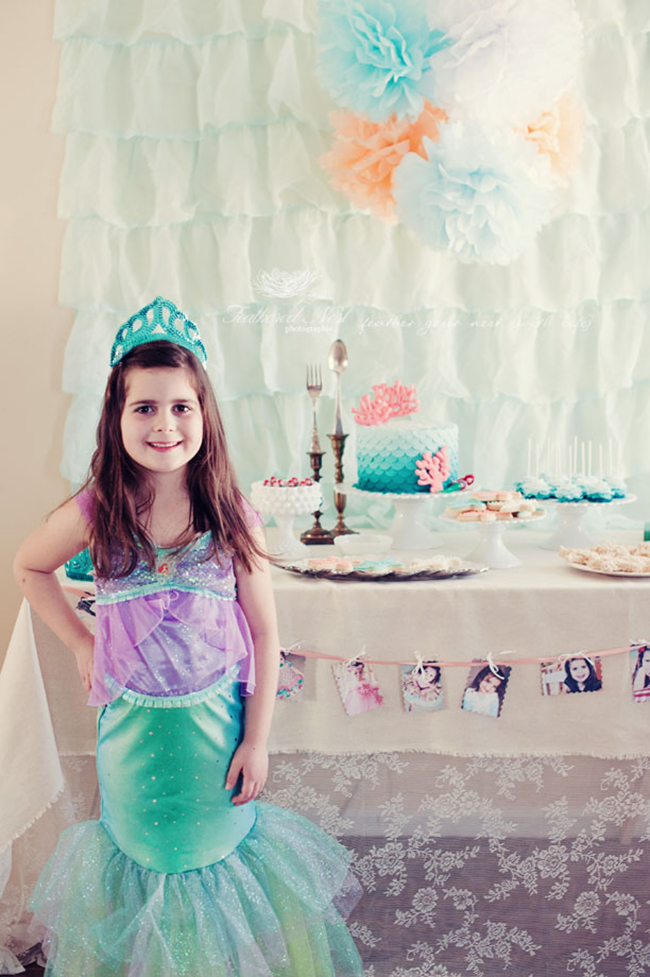 Ariel Inspired Mermaid Party Halle Is 7 Chickabug