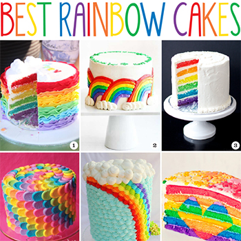 The Best Rainbow Cakes Chickabug