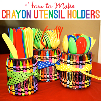 How to make crayon utensil holders