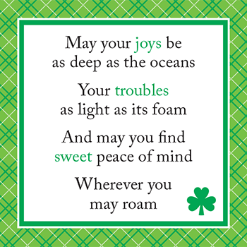 Irish blessing. Happy St. Patrick's Day!