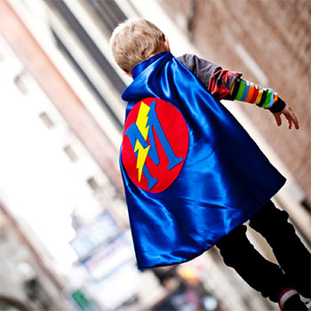 Personalized superhero capes and accessories from Pip & Bean - pipandbean.etsy.com