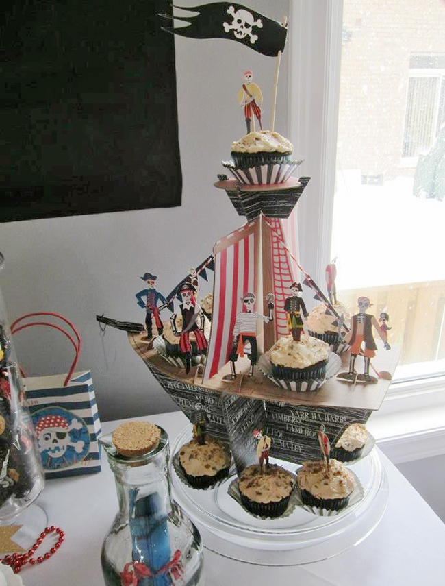 Pirate theme birthday cupcakes