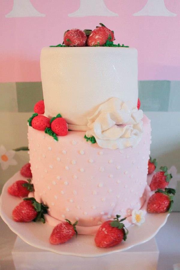 Strawberry birthday cake - gorgeous!