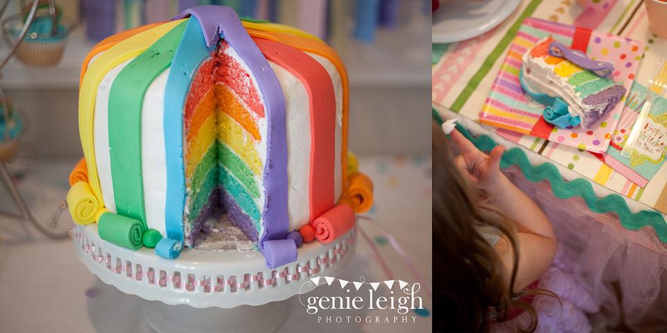 Gorgeous rainbow birthday party!
