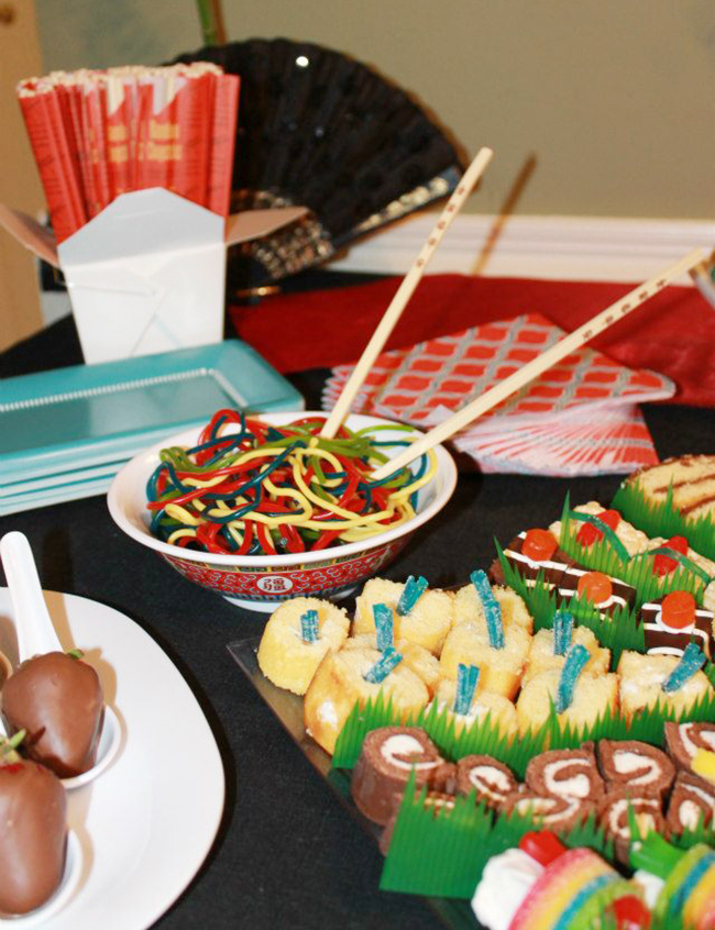 Candy sushi birthday party