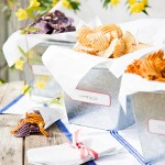 Simple containers to serve chips at a party