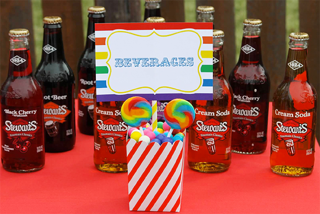 Big top birthday party with printables from Chickabug