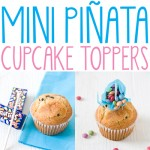 Mini piñata cupcake toppers - filled with candies!