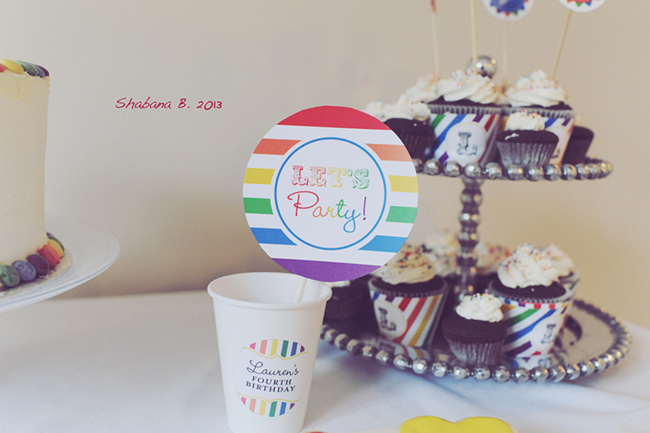 Rainbow birthday party! Printables from Chickabug
