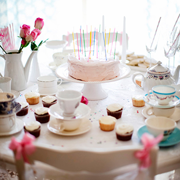 Tea party for a birthday