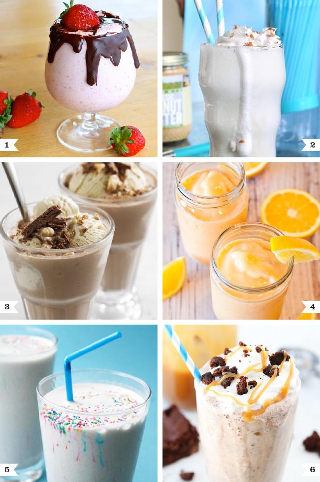 6 amazing milkshake recipes