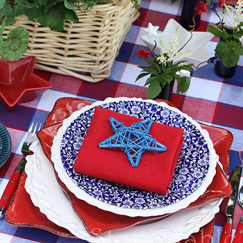 Memorial Day party table