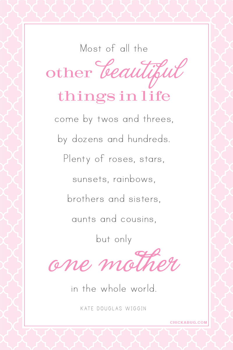 A wonderful quote for Mother's Day